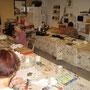 atelier de mosaïque à St Vincent Lespinasse, stage adhérents juillet 2012