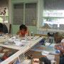 atelier de mosaïque à Fumel, salle mosaïque, stage adhérents juillet 2012