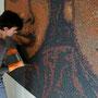 jointoiement de la fresque  (mosaïque portrait)