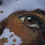 Petit garçon, autour de l'oeil  (mosaïque portrait)
