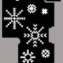 Etude graphique, hall du chalet, dessins flocons de neige