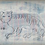 2010 tiger   アクリルガッシュ,クレヨン,パネル