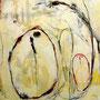 Three owls W72.8×H103cm 油彩.鉛筆,ダーマトグラフ,パネル
