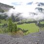 Blick hinab zur Iffigenalp bzw. zur Walliserdole.
