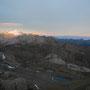 Nach einer langen Nacht: Der Ausblick von der Wildstrubelhütte.