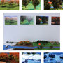 『巡る季節』卒業制作作品。6つの静止画をカレンダーに。いつか卓上カレンダーにして販売したい。2015.2.19 ベニヤ板 ジオラマ素材等  EOS Kiss X5