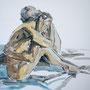 versichert, 2015, Acryl und Kohle auf Leinwand, 80 x 80 cm
