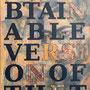 thebestobtainableversionofthetruthBERNSTEIN, 2017, Acryl und Papiercollage auf Leinwand, 60 x 120 cm