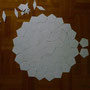 Großes Pentagon Kantenlänge 4,5 cm = Rosettendurchmesser 50 cm.