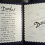 Weiterblättern... links Dankesworte, rechts die Unterschriften...
