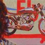 "sigrid hutter, ""traun "", 2012, 35 x 140 cm, acryl auf leinwand – erlas galerie"