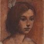 """roger schindler, """"mädchen (o.t.)"""",  2019, 18 x 17 cm, öl auf leinwand – erlas galerie"""