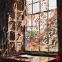 """dénesh ghyczy, """"open book"""",  2019, 120 x 110 cm, acryl auf leinwand – erlas galerie"""