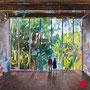 "dénesh ghyczy, ""stage of life"", 2021, 160 x 160 cm, oil & acrylic on canvas – erlas galerie"