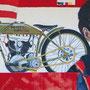 """sigrid hutter, """"wiege der zeit"""", 2013, 80 x 180 cm, acryl auf leinwand – erlas galerie"""