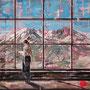 """dénesh ghyczy """"in the mountains"""", 2019, öl und acryl auf leinwand, 140 x 160 cm – erlas galerie"""