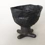 gefäß aus seidenpapier&kleister-mit metallteilen verschraubt