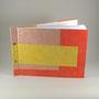 skizzenbuch A4 quer, kahari papiere aus dem himalya, vorsatz bütte, meine gestaltung, farben nach kundenwunsch