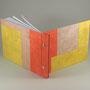 skizzenbuch A5, kahari papiere aus dem himalya, vorsatz bütte, meine gestaltung, farben nach kundenwunsch