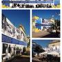 Banner di 24x 5,5 mt creato a copertura di un vecchio edificio in piazza Sacro Cuore a Furci Siculo