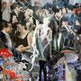 Holly Golightly - Fotografie Acryl/Dibond von Handcut Paper Collage (60cm x 80cm) © Edel Seebauer