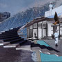 Space for Structure - Pool #1 - Fotografie Fine Art Print von Handcut Paper Collage (60cm x 43,5cm) © Edel Seebauer