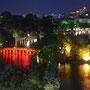 Le pont rouge, à Hanoï
