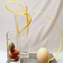 A. Callmeyer: Ostereier, Straußen-Ei, Band (gefärbte Weide) - Ostern in Ei-Solation