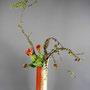 G. Jost: Lärchenzweige, Tulpen