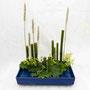 A. Fricke: Bambus, Roggenähren, Frauenmantel (Foto: O. Fricke)