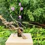 Dr. A. Lecca: Rohrkolben, Phlox, getrocknete Blauregen-Zweige, Maschendraht