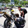 こうゆ~瞬間が楽しいんですよね~!バイクっておもろいですよね~!