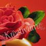 Hochzeitstorte mit Rosengesteck - Rose mit Blattgrün