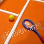 Tennis Fondanttorte - Tennisschläger