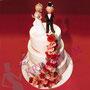 Hochzeitstorte aus Fondant mit Rosenmeer