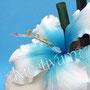 Hibiskus Hochzeitstorte hellblau - Karibikhochzeit - Hibiskusblüte