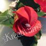 2 stöckige Hochzeitstorte mit roten Rosen - Rosenknospe