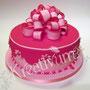 Geschenk Fondanttorte - Pink