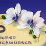 Orchideen Fondanttorte - Lila Orchideen