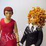 4 stöckige Callas Hochzeitstorte mit Brautpaar