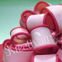 Rosa Muttertagstorte mit Schleife - Fondantschleife
