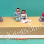 Skateboard Hochzeitstorte mit Brautpaar
