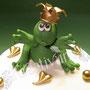 Frosch Fondanttorte - Detail