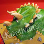 Dino Fondanttorte - Triceratops - Kopf