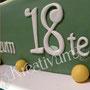 Tennis Fondanttorte - Schrift und Zahlen