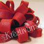 Weiß rot gestreifte Geschenk Fondanttorte - rote Schleife