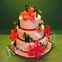Hibiskus Hochzeitstorte