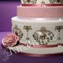 Traum Hochzeitstorte rosa gold - Showtorte für Hamburg - Fotodruck