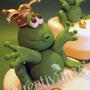 Frosch Fondanttorte - Frosch mit goldener Krone