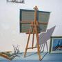 Trompe-l'oeil abri bus (détail) - Acrylique sur façade - Travexin, Cornimont (88) - 2013